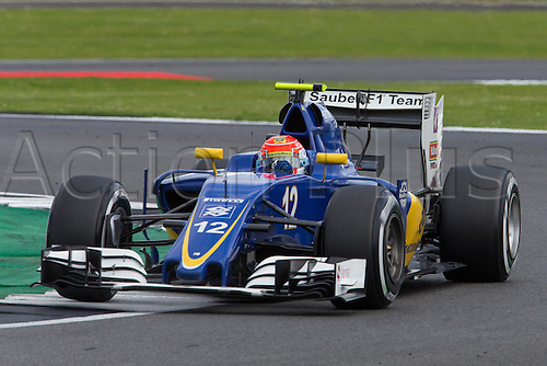 10.07.2016. Silverstone, England. Formula One British Grand Prix, race day.  Sauber F1 Team driver Felipe Nasr.