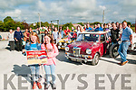 John Silles Memorial Vintage Rally : Pictured at the start of the John Silles Memorial Rally in aid of Pieta Huose in Lixnaw on Saturday evening last were Emma Leen & Michelle Goggin holding the poster.