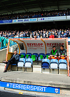 Sheffield Wednesday manager Carlos Carvalhal sits in the dug-out <br /> <br /> Photographer Chris Vaughan/CameraSport<br /> <br /> The EFL Sky Bet Championship Play-Off Semi Final First Leg - Huddersfield Town v Sheffield Wednesday - Saturday 13th May 2017 - The John Smith's Stadium - Huddersfield<br /> <br /> World Copyright &copy; 2017 CameraSport. All rights reserved. 43 Linden Ave. Countesthorpe. Leicester. England. LE8 5PG - Tel: +44 (0) 116 277 4147 - admin@camerasport.com - www.camerasport.com