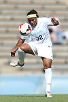 06 October 2013: North Carolina's Meg Morris. The University of North Carolina Tar Heels hosted the University of Maryland Terrapins at Fetzer Field in Chapel Hill, NC in a 2013 NCAA Division I Women's Soccer match. UNC won the game 3-1.