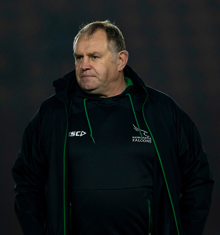 Newcastle Falcons' Head Coach Dean Richards<br /> <br /> Photographer Bob Bradford/CameraSport<br /> <br /> Gallagher Premiership Round 7 - Harlequins v Newcastle Falcons - Friday 16th November 2018 - Twickenham Stoop - London<br /> <br /> World Copyright © 2018 CameraSport. All rights reserved. 43 Linden Ave. Countesthorpe. Leicester. England. LE8 5PG - Tel: +44 (0) 116 277 4147 - admin@camerasport.com - www.camerasport.com