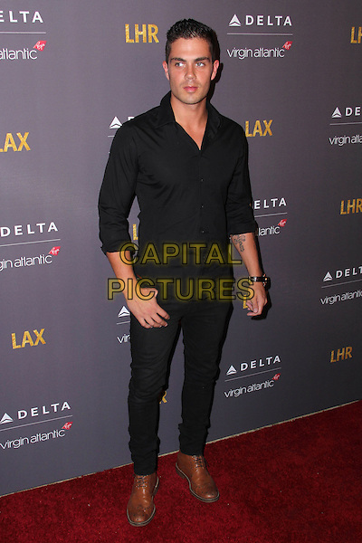 HOLLYWOOD, CA - OCTOBER 22: Max George at a British Party Bash to celebrate Virgin and Delta's new non-stop flight between LAX and London's Heathrow Airport at The London in West Hollywood, CA on October 22, 2014.  <br /> CAP/MPI/DC/DE<br /> &copy;DE/DC/MediaPunch/Capital Pictures