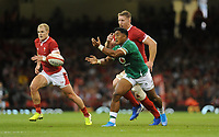Ireland's Bundee Aki during the game<br /> <br /> Photographer Ian Cook/CameraSport<br /> <br /> 2019 Under Armour Summer Series - Wales v Ireland - Saturday 31st August 2019 - Principality Stadium - Cardifff<br /> <br /> World Copyright © 2019 CameraSport. All rights reserved. 43 Linden Ave. Countesthorpe. Leicester. England. LE8 5PG - Tel: +44 (0) 116 277 4147 - admin@camerasport.com - www.camerasport.com
