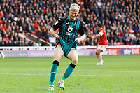 Sam Surridge of Swansea City shows his frustration after missing the opportunity to score during the Sky Bet Championship match between Barnsley and Swansea City at Oakwell Stadium, Barnsley, England, UK. Saturday 19 October 2019