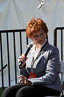 "Marion Ross, whom played Mrs. Cunningham on the Happy Day's Sitcom and Author of ""My Days: Happy and Otherwise, "" interviewed by Patt Morrison at the Los Angeles Times Festival of Books held at the USC Campus in Los Angeles, California on Sunday, April 14, 2019"