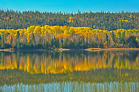 Autumn colors in norhern lake<br />