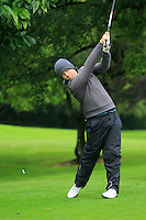Shaun O'Connor (Luttrellstown Castle) on the 3rd tee during round 1 of The Mullingar Scratch Cup in Mullingar Golf Club on Sunday 3rd August 2014.<br /> Picture:  Thos Caffrey / www.golffile.ie