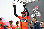 Vincenzo Nibali (ITA) Bahrain-Merida at sign on before Stage 16 of the 2019 Giro d'Italia, running 194km from Lovere to Ponte di Legno, Italy. 28th May 2019<br /> Picture: Massimo Paolone/LaPresse | Cyclefile<br /> <br /> All photos usage must carry mandatory copyright credit (© Cyclefile | Massimo Paolone/LaPresse)
