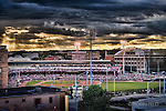 Fifth Third Field under dramatic sky from the Firefly building