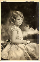 BNPS.co.uk (01202 558833)<br /> Pic: MarcusAdams/ChiswickAuctions/BNPS<br /> <br /> Princess Elizabeth at 6 and a half years old<br /> <br /> Charming childhood photos of Princess Elizabeth and Princess Margaret have come to light, including a previously unseen image of the future Queen in a kilt.<br /> <br /> The portraits, taken by acclaimed British society photographer Marcus Adams, capture the future Queen from being a baby to her adolescence.<br /> <br /> The Queen Mother would often take her daughters to his central London studio where he would set up toys and props to keep them entertained