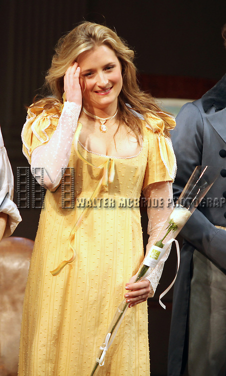 Grace Gummer.during the Broadway Opening Night Curtain Call for 'Arcadia' at the Barrymore Theatre in New York City.