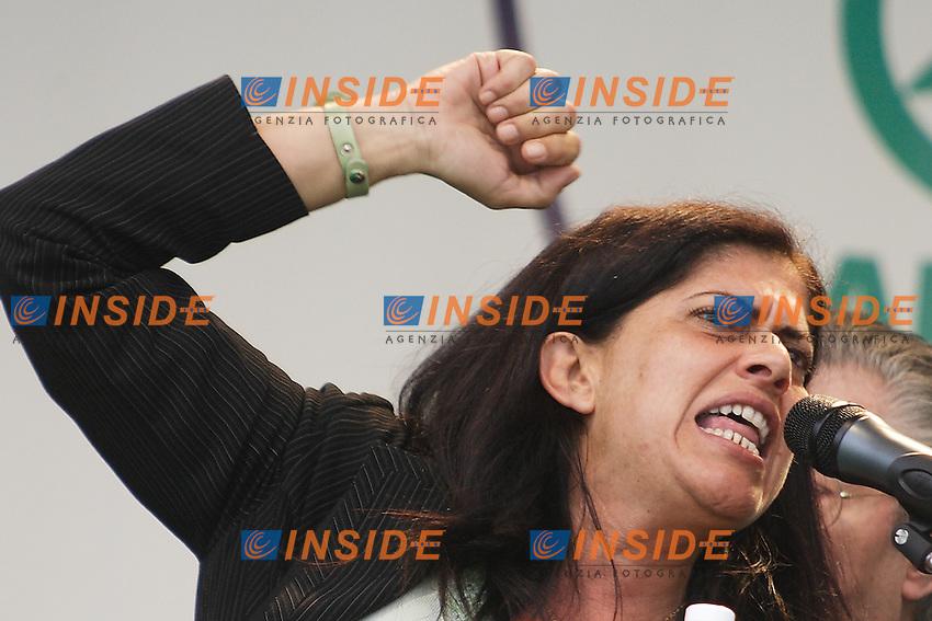Rosi Mauro, Vice Presidente del Senato...Manifestazione della Lega Nord...Pontida, 01 Giugno 2008...Foto Antonietta Baldassarre Inside