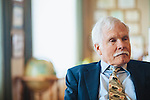 Ted Turner answers questions during an interview in his office in downtown Atlanta October 29, 2013.