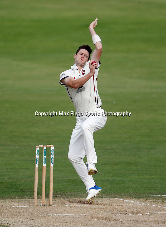 Matt Henry bowls for Kent during the Specsavers County Championship division two game between Kent and Glamorgan (day 3) at the St Lawrence Ground, Canterbury, on Sept 20, 2018