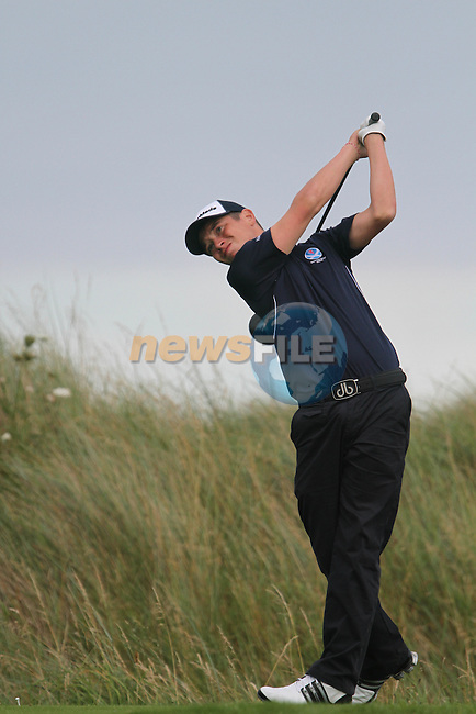 Ewen Ferguson (SCO) on the Final Day of the 2012 Boys Home Internationals at Co.Louth Golf Club in Baltray, Co.Louth...(Photo credit should read Jenny Matthews/NEWSFILE)...