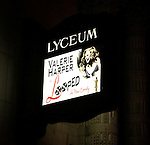 """Theatre Marquee for """"LOOPED"""" at the Lyceum Theatre in New York City. Valerie Harper star as Talullah Bankhead in a play by Matthew Lombardo, under the direction of Rob Ruggiero. January 24, 2010.© WalterMcBride /  ."""