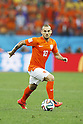 Wesley Sneijder (NED),<br /> JULY 9, 2014 - Football / Soccer :<br /> FIFA World Cup 2014 semi-final match between Netherlands 0(2-4)0 Argentina at Arena De Sao Paulo Stadium in Sao Paulo, Brazil. (Photo by AFLO) [3604]