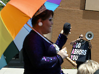 Scenes from the gay pride parade Saturday, June 24, 2006, in Columbus, Ohio.<br />
