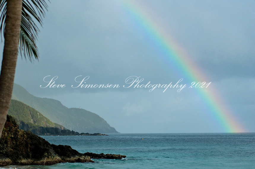 Rainbow from The beach at Carambola Beach Resort & Spa, St. Croix USVI