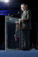 Bergamo: Mario Monti presenta la sua lista Scelta Civica con Monti al kilometro rosso di Bergamo..Nella foto Luca Cordero di Montezemolo parla alla platea