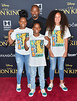 "LOS ANGELES, USA. July 10, 2019: Jamie Foxx & Kids at the world premiere of Disney's ""The Lion King"" at the Dolby Theatre.<br /> Picture: Paul Smith/Featureflash"
