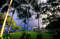 University of Hawaii Presidentís House at dusk, Manoa Valley, Honolulu