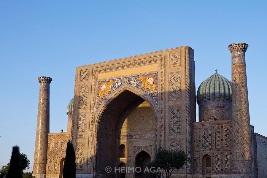 Uzbekistan, Samarqand.<br /> Registan ensemble.