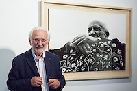 "Lucien Clergue presents in Madrid the opening of his exhibition called ""The Intimate Picasso""."