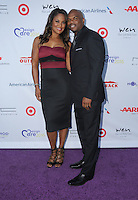 16 July 2016 - Pacific Palisades, California. Laila Ali, Curtis Conway. Arrivals for HollyRod Foundation's 18th Annual DesignCare Gala held at Private Residence in Pacific Palisades. Photo Credit: Birdie Thompson/AdMedia