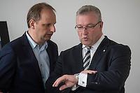 Praesentation der CDU-Kampagne fuer die Abgeordnetenhauswahl am 18. September 2016 in Berlin.<br /> Der CDU-Landesvorsitzende Frank Henkel stellte am Mittwoch den 6. April 2016 zusammen mit dem<br /> Wahlkampfleiter Kai Wegner und dem<br /> Kampagnenmanager Thomas Heilmann die Kampagne der Berliner CDU zur Abgeordnetenhauswahl vor. Konkrete Plakate mit Fotomotiven konnten nur eingeschraenkt gezeigt werden, da die CDU die Nutzungsrechte nicht erworben hat. So wurden den Journalisten nur Plakatideen und das Logo der Kampagne praesentiert.<br /> Im Bild vlnr: Thomas Heilmann und Frank Henkel.<br /> 6.4.2016, Berlin<br /> Copyright: Christian-Ditsch.de<br /> [Inhaltsveraendernde Manipulation des Fotos nur nach ausdruecklicher Genehmigung des Fotografen. Vereinbarungen ueber Abtretung von Persoenlichkeitsrechten/Model Release der abgebildeten Person/Personen liegen nicht vor. NO MODEL RELEASE! Nur fuer Redaktionelle Zwecke. Don't publish without copyright Christian-Ditsch.de, Veroeffentlichung nur mit Fotografennennung, sowie gegen Honorar, MwSt. und Beleg. Konto: I N G - D i B a, IBAN DE58500105175400192269, BIC INGDDEFFXXX, Kontakt: post@christian-ditsch.de<br /> Bei der Bearbeitung der Dateiinformationen darf die Urheberkennzeichnung in den EXIF- und  IPTC-Daten nicht entfernt werden, diese sind in digitalen Medien nach §95c UrhG rechtlich geschuetzt. Der Urhebervermerk wird gemaess §13 UrhG verlangt.]