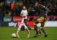 Bolton Wanderers' Craig Noone competing with Sheffield Wednesday's Dominic Iorfa <br /> <br /> Photographer Andrew Kearns/CameraSport<br /> <br /> The EFL Sky Bet Championship - Bolton Wanderers v Sheffield Wednesday - Tuesday 12th March 2019 - University of Bolton Stadium - Bolton<br /> <br /> World Copyright © 2019 CameraSport. All rights reserved. 43 Linden Ave. Countesthorpe. Leicester. England. LE8 5PG - Tel: +44 (0) 116 277 4147 - admin@camerasport.com - www.camerasport.com