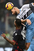 Joao Pedro of Cagliari and Francesco Acerbi of Lazio compete for the ball during the Serie A 2018/2019 football match between SS Lazio and Cagliari at stadio Olimpico, Roma, December 22, 2018 <br />  Foto Andrea Staccioli / Insidefoto