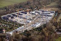 Gleisdreieck Asylanten Wohnungsbau  : EUROPA, DEUTSCHLAND, HAMBURG 19.11.2016: im Bau befindliches Wohngebiet Gleisdreieck Mittlerer Landweg
