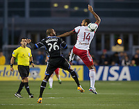 March 10th, 2013: Thierry Henry and Victor Bernardez in action during a game at Buck Shaw Stadium, Santa Clara, Ca.   Earthquakes defeated Red Bulls 2-1