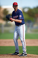 Minnesota Twins pitcher Michael Tonkin (59) during a Spring Training practice on March 1, 2016 at Hammond Stadium in Fort Myers, Florida.  (Mike Janes/Four Seam Images)