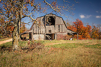 An old barn on Cave Mountain, in Newton County Arkansas, near the Buffalo National River.
