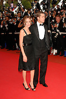 ANGELINA JOLIE &amp; BRAD PITT<br /> &quot;A Mighty Heart&quot; gala screening at the 60th International Cannes Film Festival, Cannes, France. <br /> May 21st, 2007<br /> full length black dress lace sash tuxedo dinner suit couple<br /> CAP/PL<br /> &copy;Phil Loftus/Capital Pictures /MediaPunch ***NORTH AND SOUTH AMERICAS ONLY***