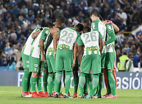 BOGOTA - COLOMBIA, 18-02-2018: Millonarios y Atlético Nacional en partido por la fecha 4 de la Liga Aguila I 2018 jugado en el estadio Nemesio Camacho El Campin de la ciudad de Bogotá. / Millonarios and Atletico Nacional in match for the date 4 of the Liga Aguila I 2018 played at the Nemesio Camacho El Campin Stadium in Bogota city. Photo: VizzorImage / Gabriel Aponte / Staff.