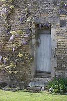 Europe/France/Bourgogne/89/Yonne/Irancy: détail porte maison de vigneron et lilas en fleur