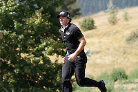 Rory McIlroy (NIR) on the 7th during the 3rd day of the Omega European Masters, Crans-Sur-Sierre, Crans Montana, Switzerland..Picture: Golffile/Fran Caffrey..