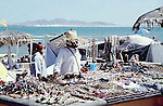 MAN SELLING JEWERLY AND SHELL ART ON BEACH FRONT IN SAN FELIPE
