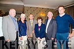 Friends meet up at the 50th Anniversary of Cuan Mhuire founded by Sr Consilio in conjunction with Bishop of Kerry ray Browne in The Rose Hotel,Tralee on Sunday,Moss and Breda O'Connor,Diarmuid Lawlor,Fr Tom Leane and Denis Culhane.