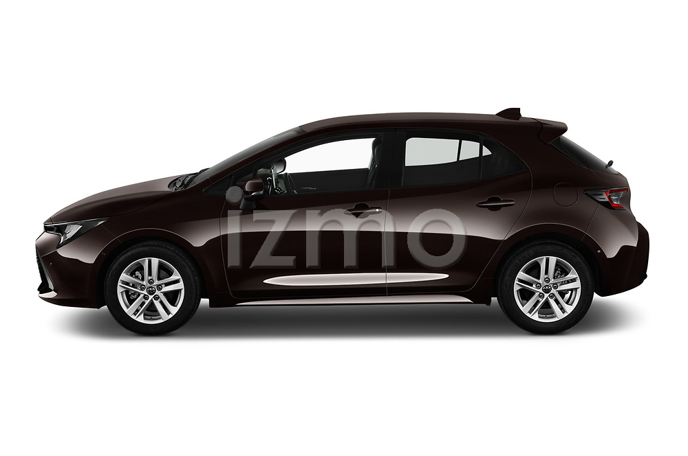 Car driver side profile view of a 2019 Toyota Corolla Dynamic 5 Door Hatchback