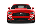 Car photography straight front view of a 2017 Ford Mustang V6 2 Door Coupe Front View