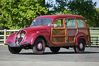 BNPS.co.uk (01202 558833)<br /> Pic: SilverstoneAuctions/BNPS<br /> <br /> 1948 Peugeot 202 Canadienne Camionette Boisee<br /> <br /> A quirky collection of rare and unusual cars is set to go under the hammer for more than £300,000.<br /> <br /> The group of 16 classic motors range from hand-built replica racing cars to barely used family saloons.<br /> <br /> They are currently owned by an esteemed British collector but have now been consigned to sale with Silverstone Auctions of Ashorne, Warwicks.