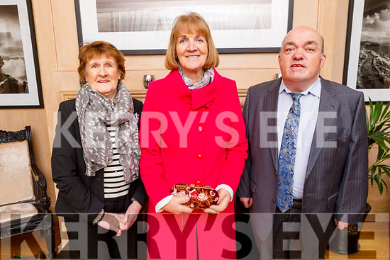 Enjoying the Kerry Supporters Social in the Ballygarry House Hotel on Saturday. <br /> L to r: Kit Ryan, Eileen Sugrue and Kerry O'Shea