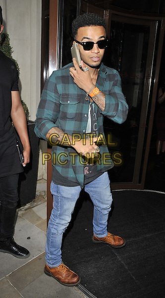 LONDON, ENGLAND - JULY 15: Aston Merrygold attends the Mike Hough's EP &quot;Lost In Love&quot; launch party, Sanctum Soho Hotel, Warwick St., on Tuesday July 15, 2014 in London, England, UK.<br /> CAP/CAN<br /> &copy;Can Nguyen/Capital Pictures