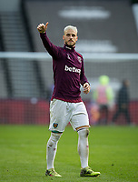 Marko Arnautovic of West Ham United at full time during the EPL - Premier League match between West Ham United and Southampton at the Olympic Park, London, England on 31 March 2018. Photo by Andy Rowland.
