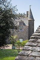Europe/France/Normandie/Basse-Normandie/50/Manche/Cap de la Hague/Vauville: Manoir de Vauville et son jardin // France, Manche, Cotentin, La Hague, Vauville:  Castle of Vauville
