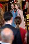 Princess Leonor of Spain (l) and Princess Sofia of Spain attend the Order of Golden Fleece (Toison de Oro), ceremony at the Royal Palace . January 30,2018. (ALTERPHOTOS/Pool)
